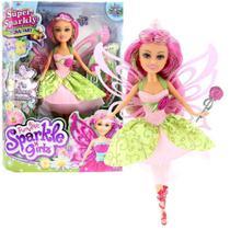 Boneca Sparkle Girlz Fada Das Flores Bianca com Acessórios DTC 4804 -
