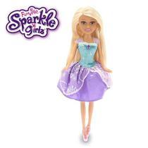 Boneca Sparkle GIRLZ Princesa STAR Cone Cabelo Loiro DTC 4752 -