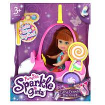 Boneca Sparkle Girlz Ruiva  Carro Mini Sparkles Ursinho - DTC -