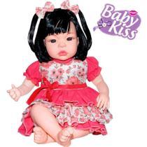 Boneca Tipo Reborn Baby Kiss  Balbucia Aperte Barriga - Sidnyl