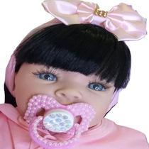 Boneca Tipo Reborn Bebê Realista+ Kit Acessórios 14 Itens Linda - Carinha De Anjo