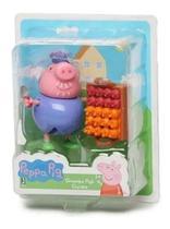 Boneca Vovô Jardineiro 06cm - Peppa Pig Brinquedo - Sunny -