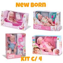 Bonecas New Born - Faz Xixi, Maternidade, Primeiros Cuidados, Banho de Carinho. Divertoys -