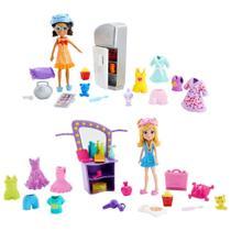Bonecas Polly Pocket - Pacote de Festa - Festa do Pijama - Mattel -