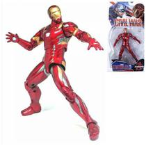 Boneco Action Figure Homem De Ferro Guerra Civil Marvel Ving -