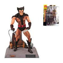 Boneco Action Figure Wolverine Unmasked Marvel Select Logan - Diamond select
