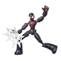 Boneco Articulado - 20 Cm - Disney - Marvel - Spider-Man - Miles Morales - Bend and Flex - Hasbro -