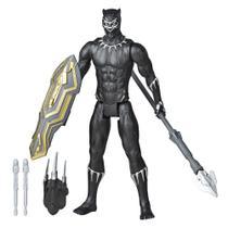 Boneco Articulado - 30 Cm - Disney - Marvel - Vingadores - Pantera Negra - Lançador - Hasbro -