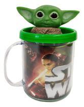 Boneco Baby Yoda Star Wars Figure + Caneca Personalizada -