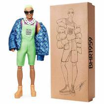 Boneco Barbie Ken Bmr1959 Cabelo Verde Neon Articulado - Mattel -