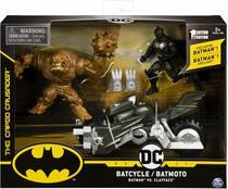 Boneco Batman Action Figure Batciclo Vs Clayface 2184 - Sunny