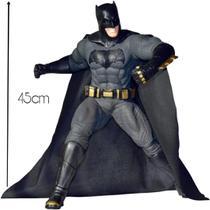 Boneco batman gigante 45cm articulado dc comics vinil - Mimo