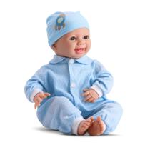 Boneco Bebê Menino New Born Tipo Reborn Com Som - Divertoys -