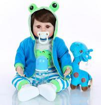 Boneco Bebê Reborn Menino Girafinha - 100% Silicone - Ot Toys