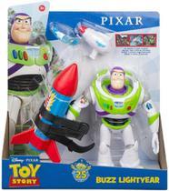Boneco Buzz Lightyear C/ Foguete E Acessórios - Mattel Gjh46 -
