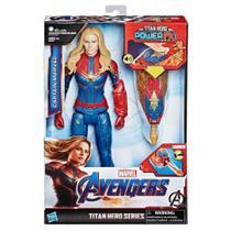 Boneco Capitã Marvel Avengers Titan Hero Power Fx Hasbro -