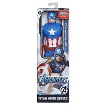 Boneco Capitão América 30cm Titan Hero Blaste Gear Vingadores - E7877 - Hasbro -