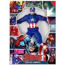 Boneco Capitão América Avengers 50 cm - Mimo -