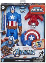 Boneco Capitão America Lançador Blast Gear E7374 Hasbro -