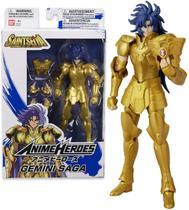Boneco Cavaleiros do Zodiaco Anime Heroes - Gemeos Saga - Bandai -