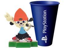 Boneco Colecionável PaRappa The Rapper - 10,5cm Totaku + Copo PlayStation Azul