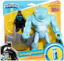 Boneco de Açao Dc Batman e King Shark Imaginext GMP97 Mattel -