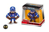 Boneco de Metal Vingadores - Capitão América 6cm - Jada Toys - Dtc -