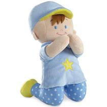 Boneco de Pelúcia Buba Menino Que Reza Azul -