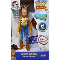 Boneco de plastico woody com som toy story - toyng -