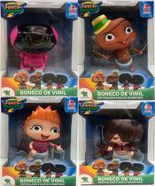 Boneco de vinil mini beat power rockers - myo-carlos-wat-fuz - Lider brinquedos