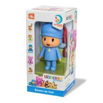 Boneco de Vinil Pocoyo - Brinquedo Turma do Pocoyo -