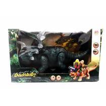 Boneco Dinossauro Agujaceratops Verde Com Luz E Som (DMT 5134) - Dm toys