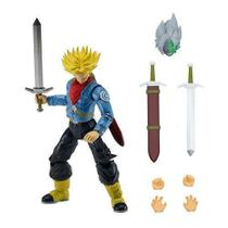 Boneco Dragon BALL Articulado Super Sayan Future TRUNKS Brinquedos Chocolate 35855M