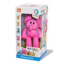 Boneco Elly Elefante de Vinil  Turma do Pocoyo - Cardoso Toys -