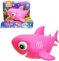 Boneco - Família Shark - Rosa - Cometa -
