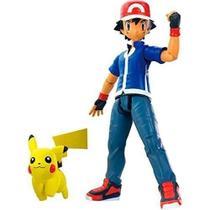Boneco Figura Pokémon Treinador Ash + Pikachu Pokemon Go Tomy -