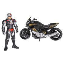Boneco Fire Light Soldier com Moto Dark War - BS Toys -