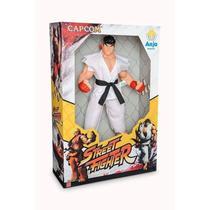 Boneco Gigante Ryu Street Fighter Capcom Articulado 45 Cm - Brinquedos Anjo