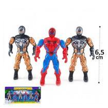 Boneco Heroes Homem Aranha- cartela com 6 un - Ark Toys