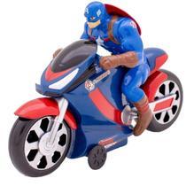 Boneco Herois Vingadores Marvel Com Moto de Fricção Brinquedo Infantil Criança +3 Anos Avengers Toyng -