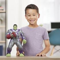 Boneco Hulk 35cm Marvel Premium Com Manopla Eletrônica E3313 -