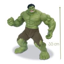 Boneco hulk gigante articulado vinil linha premium mimo -