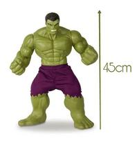 Boneco hulk grande 45cm articulado vinil - marvel avengers - Mimo