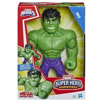 Boneco Hulk Mega Mighties Playskool Heroes Marvel Super Hero Adventures E4149 E4132 - Hasbro