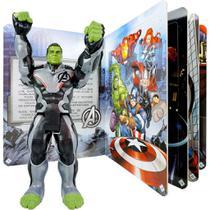 Boneco Hulk Titan Hero + Livro com 4 Quebra Cabeças Vingadores - Hasbro/Culturama