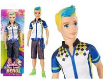 Boneco Ken Barbie Video Game Hero Loiro Com Cinto Top - Mattel