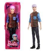 Boneco Ken Cabelo Roxo 154 - Barbie Fashionistas - Nova embalagem no Estojo Plástico - Mattel -