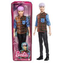 Boneco Ken Da Barbie Fashionistas K-pop Camisa Xadrez Mattel -