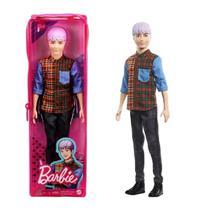 Boneco Ken Fashionista Cabelo Roxo 154 3+ GYB05 Mattel -
