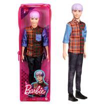 Boneco Ken Fashionista Cabelo Roxo 154 - Barbie Mattel -